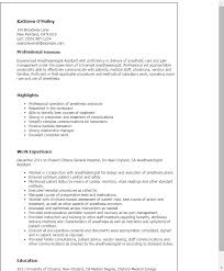 Resume Templates: Anesthesiologist Assistant