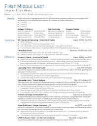 Mechanical Engineering Resume Templates Best Process Controls Engineer Resume Example Livecareer Quality 75