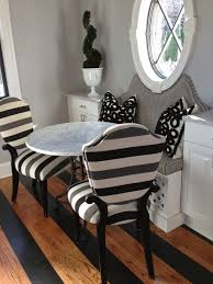 haute indoor couture kitchens french kitchen bistro table built in banquette dining banquette striped banquette black and white banq