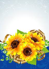 向日葵の夏らしい綺麗な背景 イラスト素材 4481352 フォトライブ