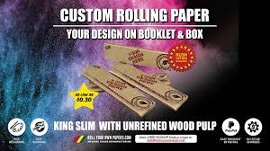 This fee will be fully credited towards a Custom Rolling Paper order should  the customer choose to proceed