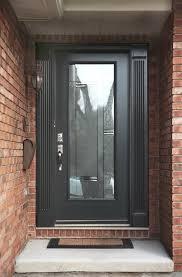 grey front doormodern grey front door with full glass insert  Modern Front Doors