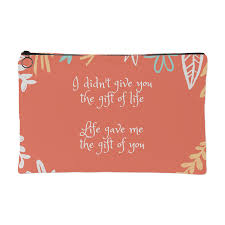 Gift Of Life Gift Of You Mother Daughter Quotes Pouch