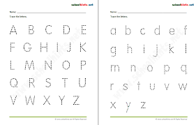 A To Z Alphabet Tracing Worksheets - popflyboys