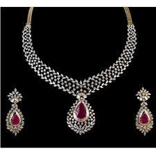Diamond Designs Designer Diamond Necklace Set