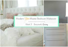 Modern Glam Master Bedroom Makeover Week  BEAUTEEFUL Living - Modern glam bedroom