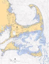 Cape Cod Chart Cape Cod Marthas Vineyard And Nantucket Nautical Chart