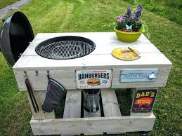 kettle grill cart plans master touch weber charcoal grill cart plans