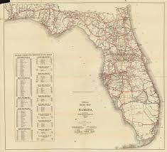 Florida Memory Official Road Map Of Florida 1930