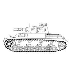 Leuk Voor Kids Kleurplaat Duitse Tank Panzer Iv E Militairen