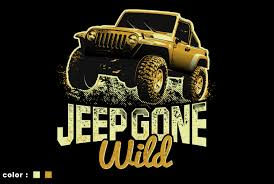 Jeep T Shirt Designs Modern Bold T Shirt Design For Jeep Gone Wild By Fatpixel