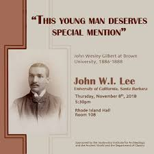 """Lecture (Brown University): """"This young man deserves special mention"""" — Eos"""