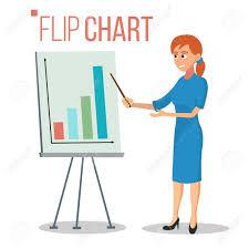 What Is Flip Chart Presentation Stock Illustration