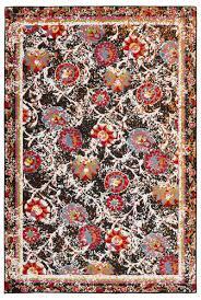 lr home fusion black area rug 3 x 5