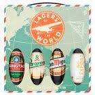 image for lagers of the world gift set x4 bottles from sainsbury s