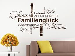 Wandtattoo Familienglück Wortwolke Von Klebeheldde