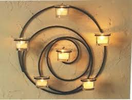 cup wall votive candle holder retired