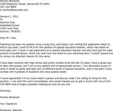 Special Education Teacher Cover Letter Examples Optional Photos