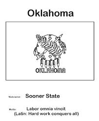 Oklahoma State Flag Coloring Page Homeschool Helps Oklahoma