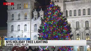 Empire State Plaza Christmas Tree Lighting Nys Tree Lighting Ceremony Held Sunday Night At Empire State