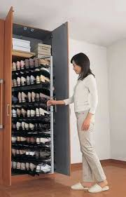 It's like a giant pull out spice rack for shoes.