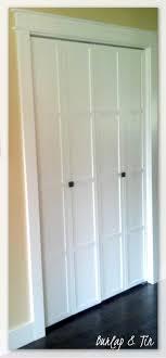 remodelaholic 40 ways to update flat doors and bifold mirror molding closet doors