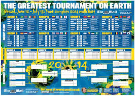 World Cup Chart Pdf Fifa World Cup 2014 Fixtures Table In Pdf Wall Chart