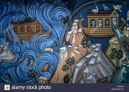 noah s ark wall painting at kykkos monastery troodos mountains cyprus