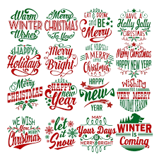 You will receive 15 quotes and 30 clipart. Christmas Wordart Pack Svg Cuttable Designs
