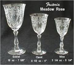 Fostoria Crystal Patterns Best Our House Antiques Etching Identification And Information Page
