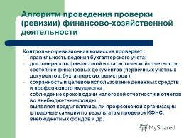 Презентация на тему Контрольно ревизионная работа в Профсоюзе  31 Алгоритм проведения