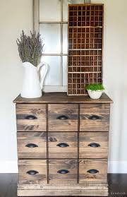 diy wood dresser card catalog ikea tutorial see how you can easily and inexpensively