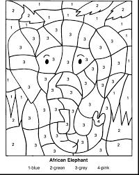 Multiplication Coloring Sheets 5th Grade Grade Math Christmas Math