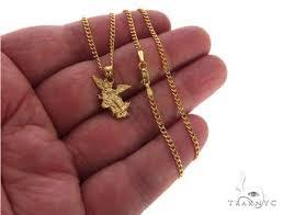 10k yellow gold saint st michael charm