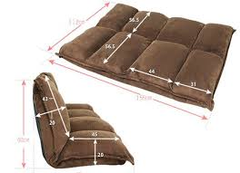 <b>Floor Furniture Reclining Japanese</b> Futon Sofa Bed Modern Folding ...