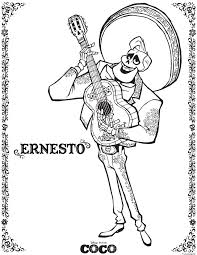 Coloriage Ernesto Coco Disney Dessin Imprimer Ducation Pinterest