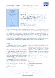 This critical review looks behind the whole life sales hype to reveal complications and issues you must understand. Pdf The Influence Of Marine Insurance Law On The Legal Development Of Life And Fire Insurance In England Dr Sinem Ogis Academia Edu