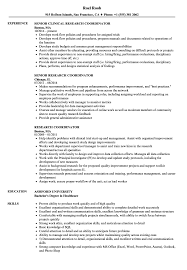 Clinical Research Coordinator Resume Sample Research Coordinator Resume Samples Velvet Jobs 5