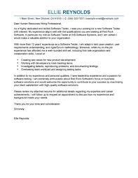 Software Qa Tester Cover Letter Testing Resume Samples Firmware