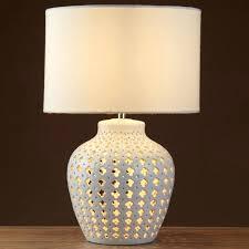 white pottery lamp crochet 2 light white ceramic fretwork table lamp drum shade white floor lamp white pottery lamp