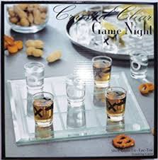 crystal clear game night tic tac toe shot glass
