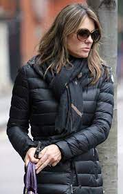 Talk august 2000 liz hurley donatella versace tucker carlson 032719dbe. Lainey Gossip Lifestyle Update Liz Hurley In London In A Fitted Puffy Coat