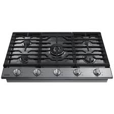 samsung 36 gas range. Unique Range Samsung 36 In Gas Cooktop In Stainless Steel With 5 Burners Including  Power Burner In Range Home Depot
