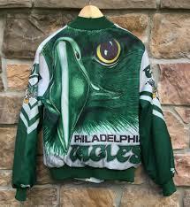 90 s philadelphia eagles chalkline fanimation jacket size medium original