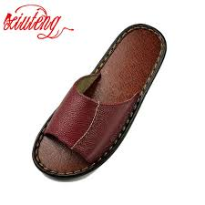 2017 women s leather slippers floor summer sandals high quality women slip deodorant and fashion house slippers