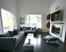 Hardwood Floors Living Room Extraordinary Dark Floor Living Room View In Gallery Gray Walls Studioconco
