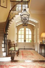 traditional entry foyer light fixtures stair wooden brown easy simple