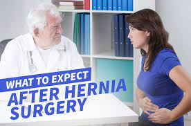 what to expect after hernia surgery
