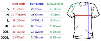 Shirt Size Chart Size Chart