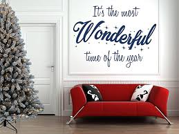wonderful room wall with christmas quote